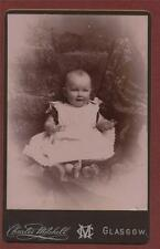 Glasgow. Charles Mitchell. Queen's Park Studio. Baby cabinet photograph qd234