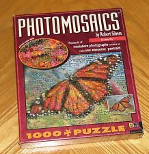 Butterfly Photomosaics 1000 Puzzle floral images Rob Silvers Digital Art sealed