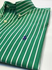 Ralph Lauren Green Stripe Shirt M