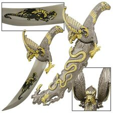"""14"""" FANTASY SERPENT AND THE EAGLE DAGGER FIXED BLADE KNIFE"""