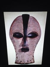 Songe Dance Mask, Lomami Region, Zaire African Tribal Art 35mm Slide