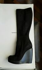Nwb costume national wedge boots black suede size 36,5