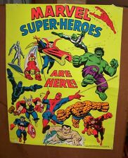 vtg 1971 Avengers 3rd Eye BlackLight Poster MARVEL SUPER HEROES Stan Lee Comics