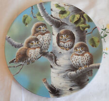 THE TREE HOUSE:NORTHERN PYGMY OWLS PLATE BABY OWLS OF NORTH AMERICA