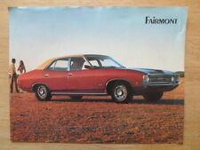 FORD FAIRMONT Sedan orig 1972 sales leaflet brochure - Australia
