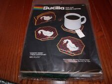 Vintage Bucilla Plastic Canvas Kit  COUNTRY GEESE COASTER SET