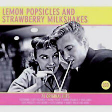 LEMON POPSICLES 75 ORIGINAL POP + ROCK N ROLL HITS FROM THE FIFTIES NEW 3CD