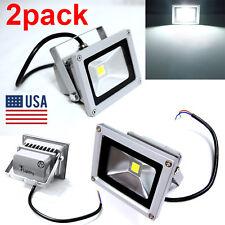 2x 10W 120V LED Flood Light Spotlights Cool White Outdoor Garden Lamp IP65