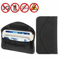 RF Cell Phone Anti-Tracking Signal Blocker & Radiation Shielding Wallet Pouch BK