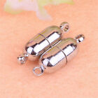 Magnetic Jewellery Making Findings Clasps Silver Plated DIY Necklace 6mm