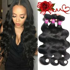 300G Brazilian Virgin Natural Wave Hair Bundles 100% Wavy Human Extensions 10 In