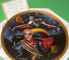 RARE Star Trek Power of Command GENERAL CHANG & KLINGON BIRD OF PREY Plate 1836A