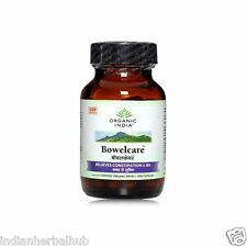 Organic India Bowelcare 60 Capsules Bottle Relieves Constipation & IBS