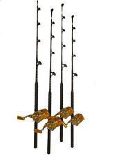 """(4) 50 Wide/ 2 Speed """"Blue Marlin Tournament"""" Reels & (4) 60-80 lb. Fishing Rods"""