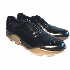 Y-0531232 New Prada Lace-Up Leather Shoes Rubber Size US 9.5 Marked 8.5