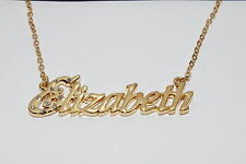 ELIZABETH 18ct Gold Plating Necklace With Name - Personalised Wedding Bridesmaid