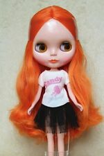 """Takara 12"""" Neo Blythe Doll from Factory Nude doll Curly orange hair SD30 +stand"""