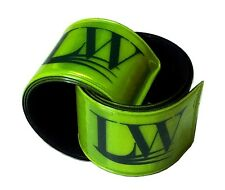 Two LW Reflective Bands Ankle Band Wristbands Slap Wraps Running Walking Biking
