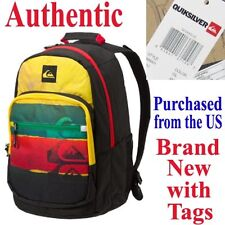 Quiksilver SCHOOLIE Backpack RASTA School Travel Bag BMX Skate Wake Surf Duffel