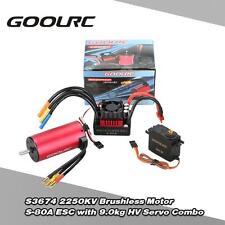 GoolRC S3674 2250KV Brushless Motor S-80A ESC w/ 9.0kg HV Servo Upgrade 1/8 A9E0