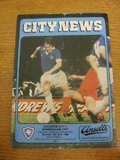 12/04/1980 Leicester City V Birmingham City (pesado arrugada, doblada Trus usado).