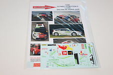 DECALS 1/43 CITROEN C4 WRC HYMOTION LOEB RALLYE 2008 WRC RALLY