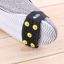 Anti Slip Snow Ice Climbing Spikes Grips Crampon Cleats 5-Stud Shoes Cover FT