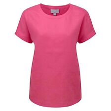 Pure Collection Leah Embroidered Linen Top,rrp £79 Fuchsia Pink Size18 Box2604 M