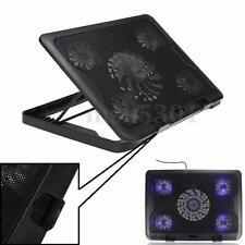 """LED 5 Ventilateur Refroidisseur Ordinateur Portable USB Support PC 7-17 """" Laptop"""