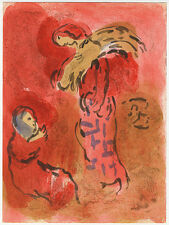 Chagall: Ährenleserin Ruth. - Farblithographie, 1960 (=Dessins pour La Bible)