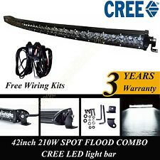 42 inch CREE single row led curved light bar off-road work light+ wiring harness