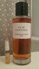 Christian Dior Cuir Cannage EDP 5ML Glass Travel Spray Atomizer!