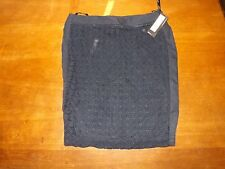 """Ladies Navy Lace Pencil Lined Skirt size 14 Lgth 23"""" (£45) New"""