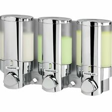 Aviva Tripple Bathroom Shower Wall Dispenser Pump Liquid Soap Shampoo Conditionr