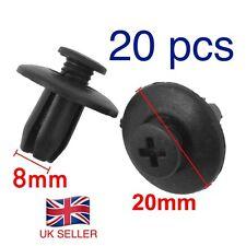 20 X  Car Door Trim Fender 8mm Hole Plastic Push in Rivets Fasteners. UK SELLER.