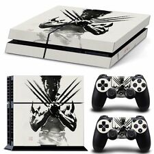 SKIN SET for PS4 Console and DualShock4 Controllers (WOLVERINE LOGAN DESIGN)