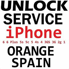 Orange Spain iPhone 6 6Plus 5s 5c 5 4s 4 3gs 3g 2g Factory Unlock Service