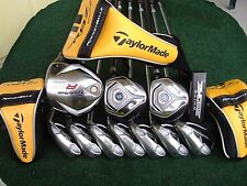 TaylorMade RBZ R9 Irons Driver Woods Putter Complete Golf Club Set Mens RH Set