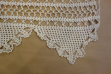 Antique Hand-Crocheted Ivory Lace Curtain Panels - Used on Set of Feature Film!