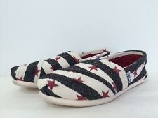 NEW Toms Women's Canvas Classic Slip On Flats Loafers Shoes stripe Star Size 5
