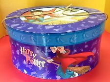 HTF Harry Potter Round Quidditch Scene Purple Hat Storage Box Warner Bros 2001