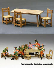 KING AND COUNTRY Scale Models of Table and Chairs SP019 SP19