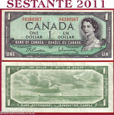CANADA  1 DOLLAR 1954 -  Serie GF - Sign Beattie & Rasminsky -  P 75b -  BB+/ VF