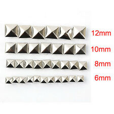 100pcs DIY Metal Punk Square Pyramid Spike Rivet Studs Nailhead Craft new