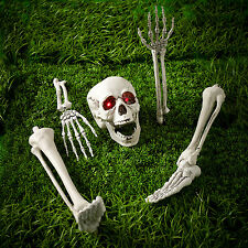 Halloween Battery Operated Buried Skeleton Bones Outdoor Decoration Red LED Eyes