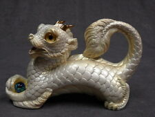 Windstone Editions NIB * White Young Oriental Dragon * Fantasy Figurine Statue