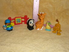 Fisher Price Little People Zoo Lot: Keeper, Fence, Toucan, Panda Bear, Giraffe