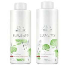WELLA ELEMENTS ORGANIC SHAMPOO & CONDITIONER DUO 1000ml PARABEN/SULFATE FREE
