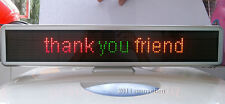 "LED Message Sign Scroll Moving Display 21"" Desk board Programmable 3 color"