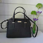 KATE SPADE Black PERFORATED MAISE Cedar Street SATCHEL Tote HANDBAG Bag NEW